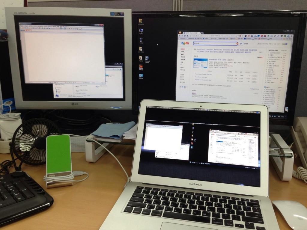 맥북에어 키보드와 매직마우스를 윈도우 PC에서 사용하기