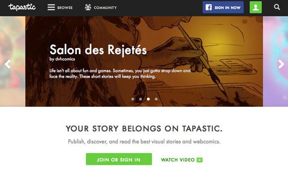 타파스 미디어의 타파스틱 (북미 웹툰 포털)