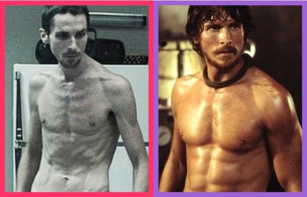 """이 정도까진 아니어도... """"Christian Bale - Before/After Gym"""",  머시니스트(브래드 앤더슨, 2004) / 레인 오브 파이어 (롭 바우만, 2002)"""