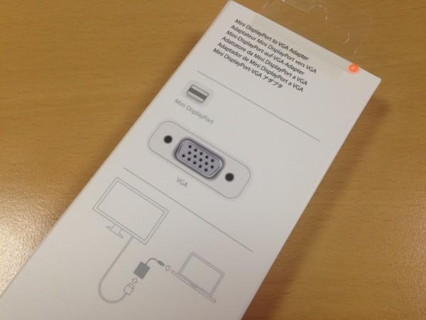 MidiDisplayPort to VGA Adapter. 애플 정품다운 아름다운 케이스