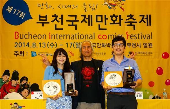(왼쪽부터) 서유리, 박재동, 김풍